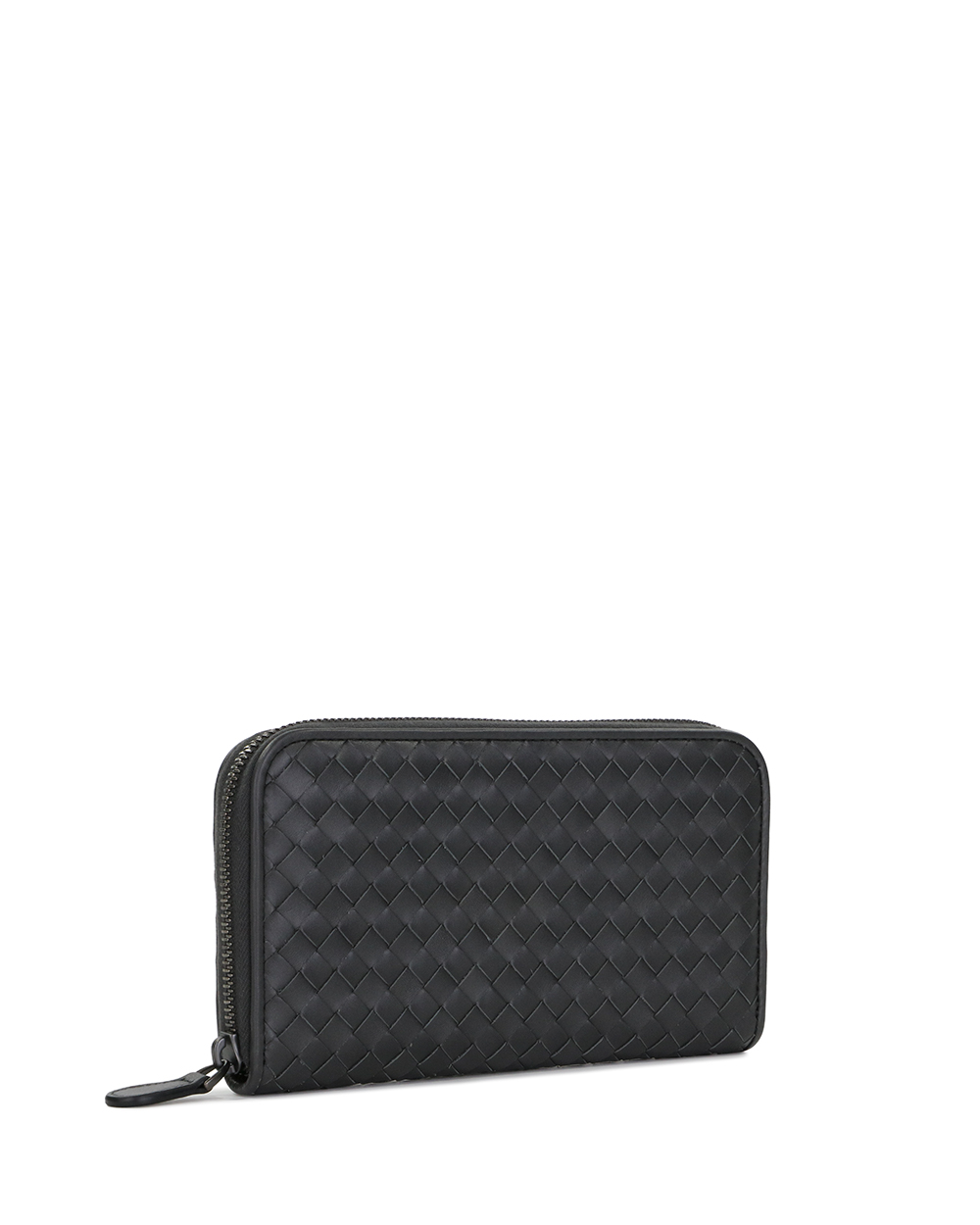 Woven Leather Long Wallet 3