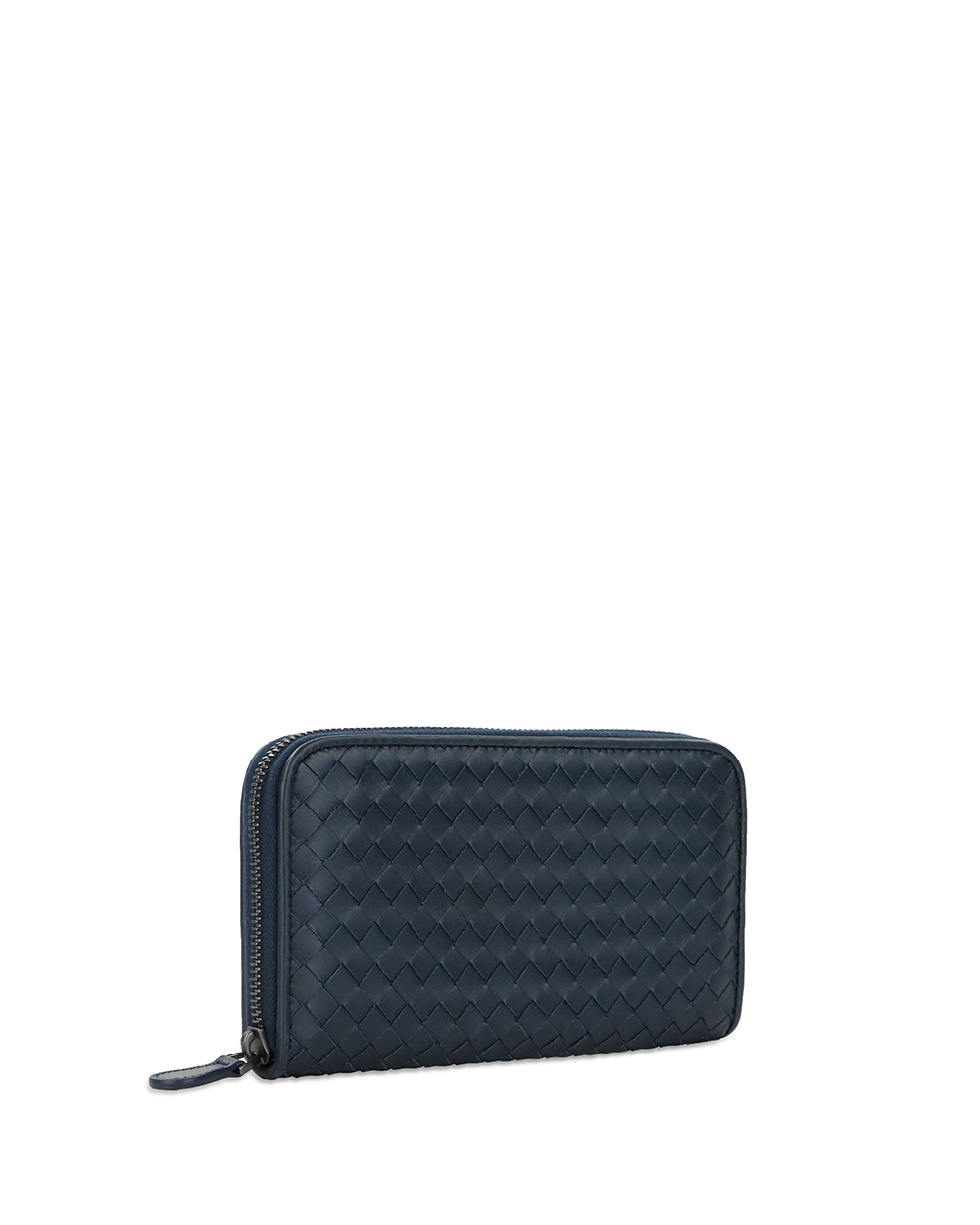 Woven Leather Long Wallet 2