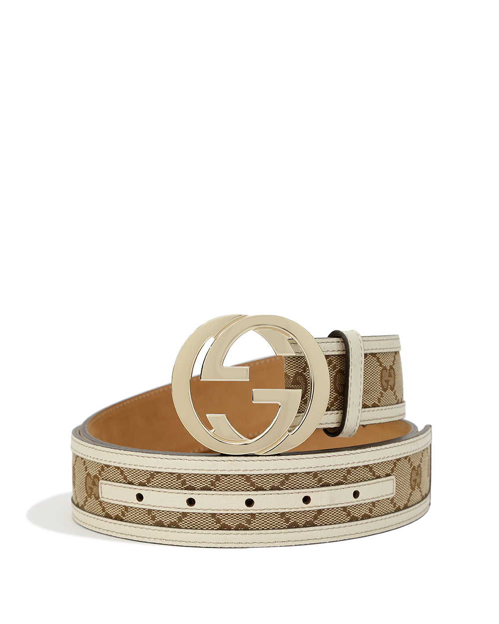 Double G Buckle Canvas Belt