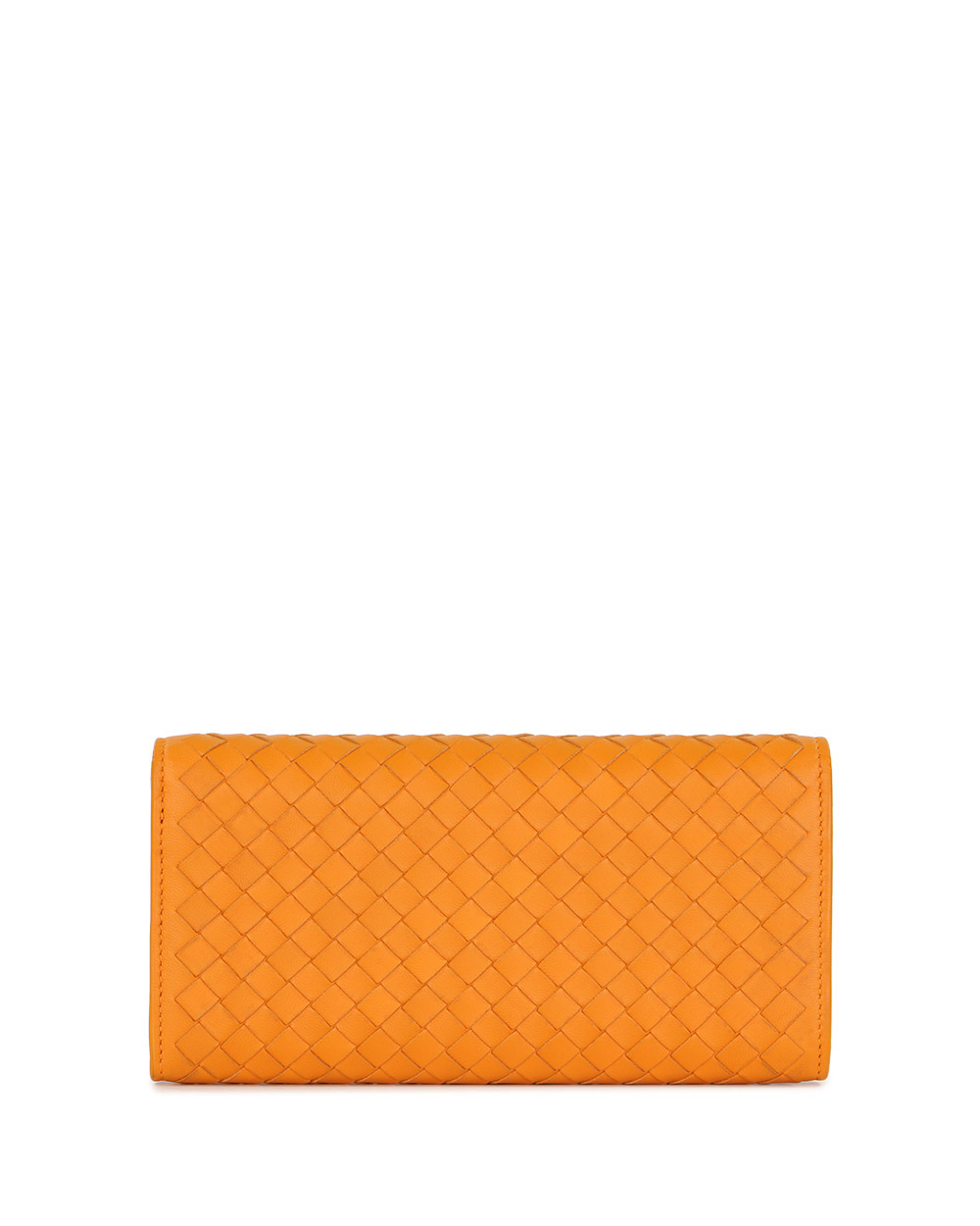 Woven Lamb Leather Long Wallet 2