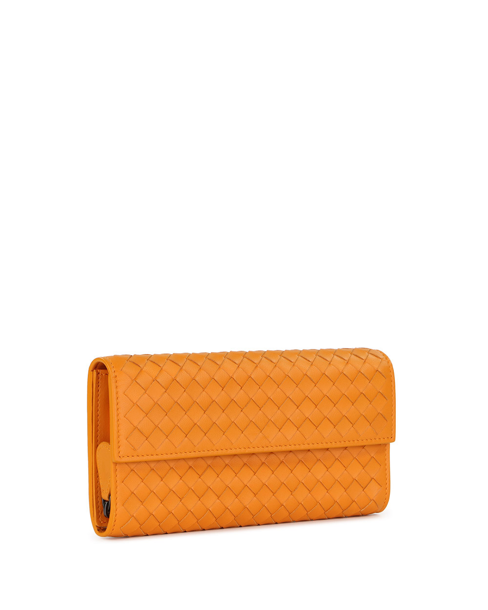 Woven Lamb Leather Long Wallet 3