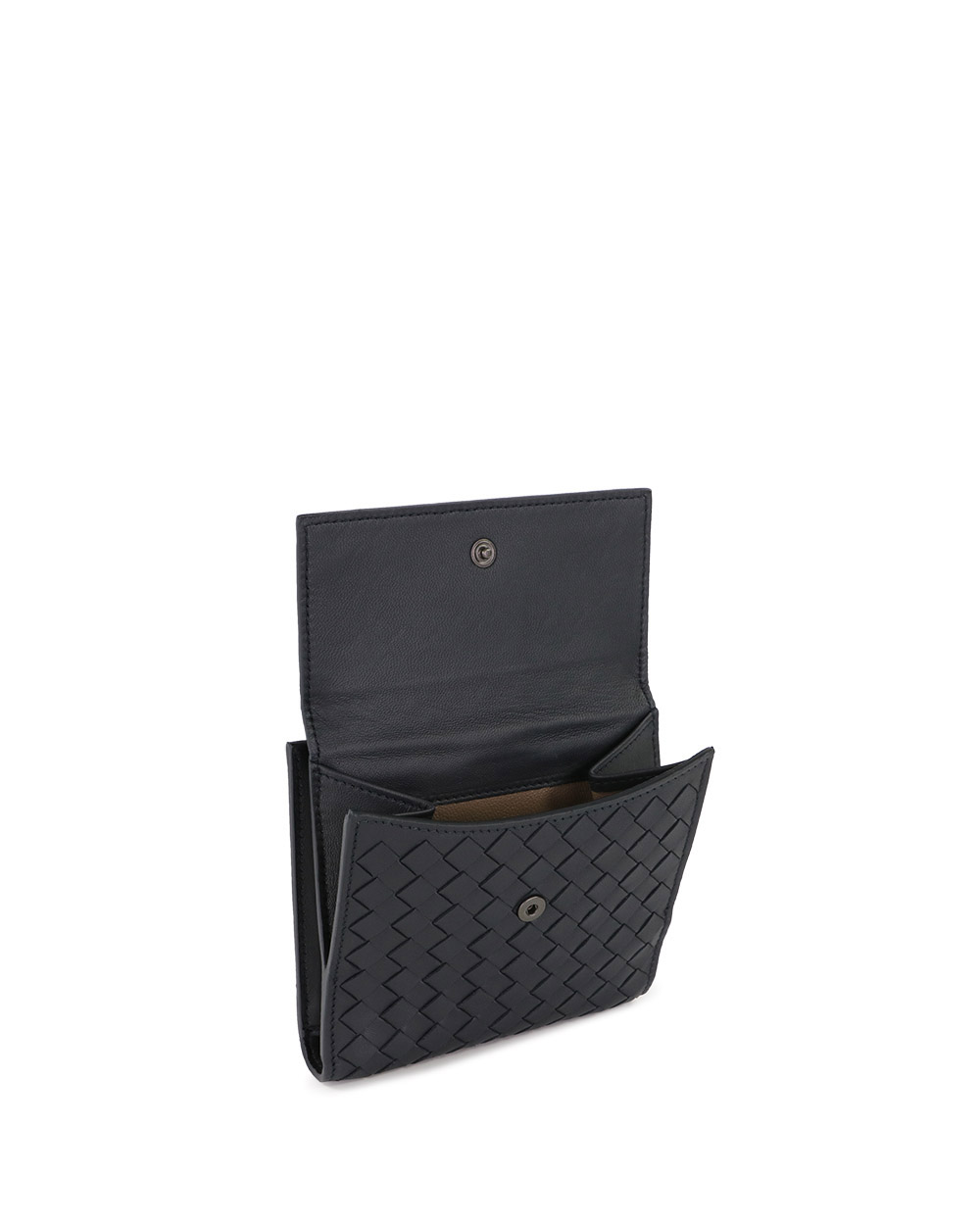 Woven Leather Short Wallet 2