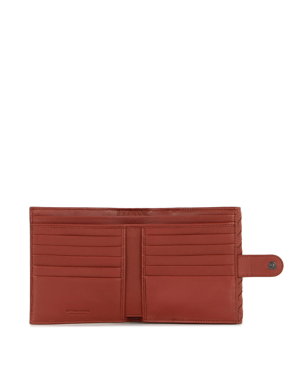 Woven Leather Short Wallet 1