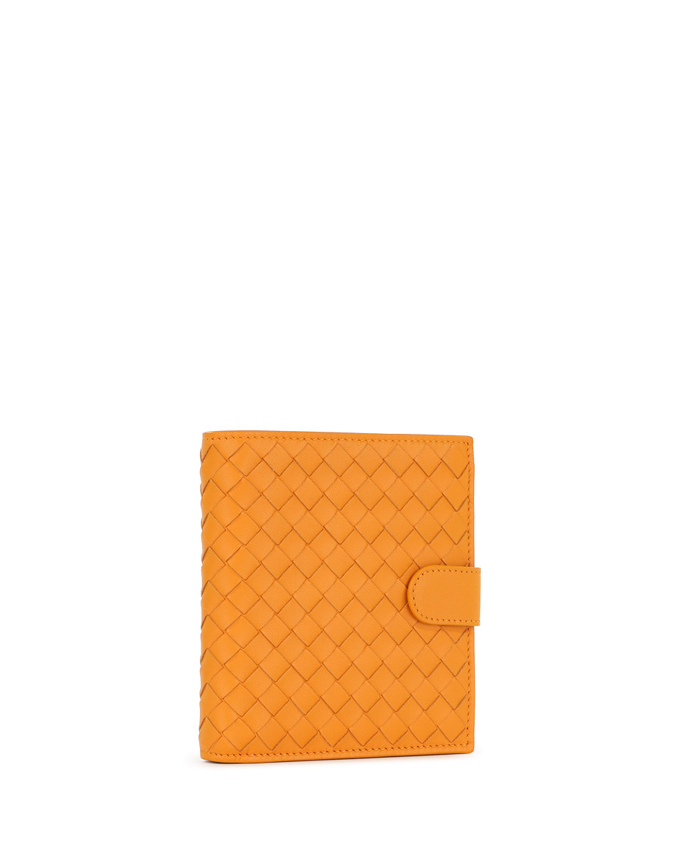 Woven Leather Short Wallet 3