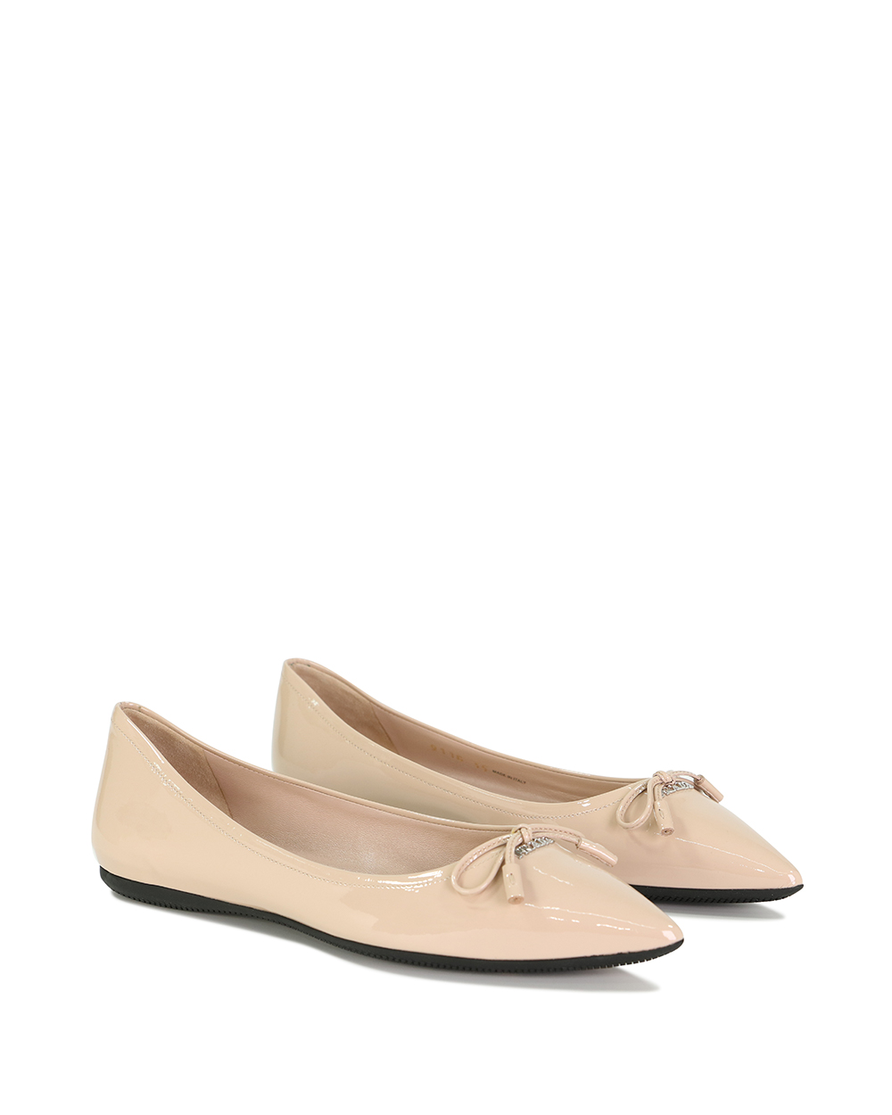 Leather Bow Flat Shoes 1