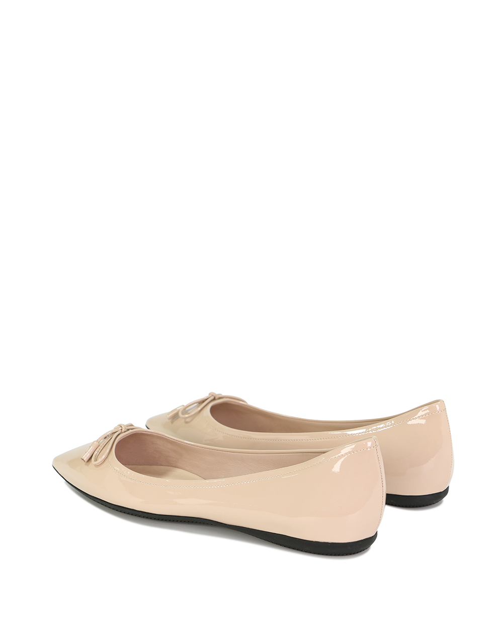 Leather Bow Flat Shoes 2