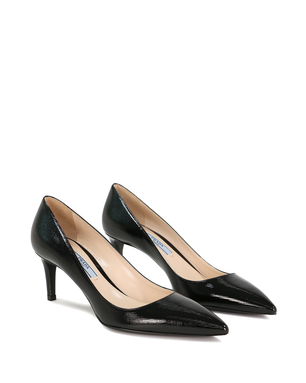 Saffiano Textured Patent Leather Pumps 1