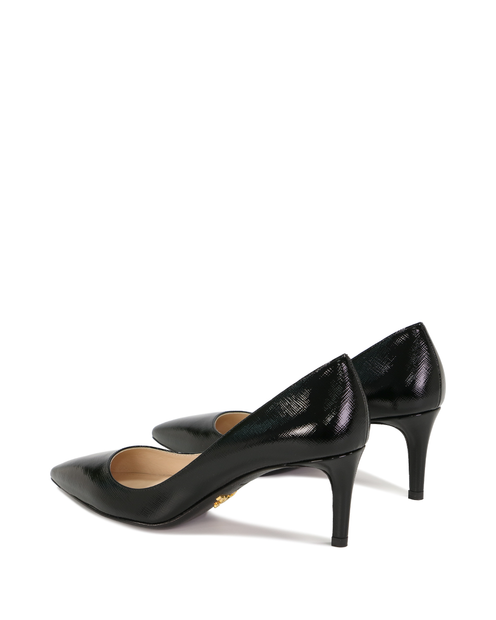 Saffiano Textured Patent Leather Pumps 2