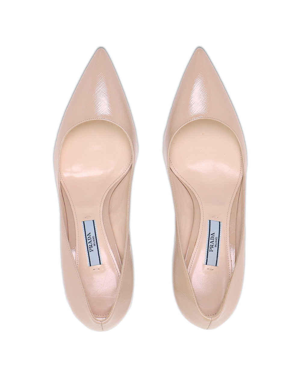 Saffiano Textured Patent Leather Pumps 3