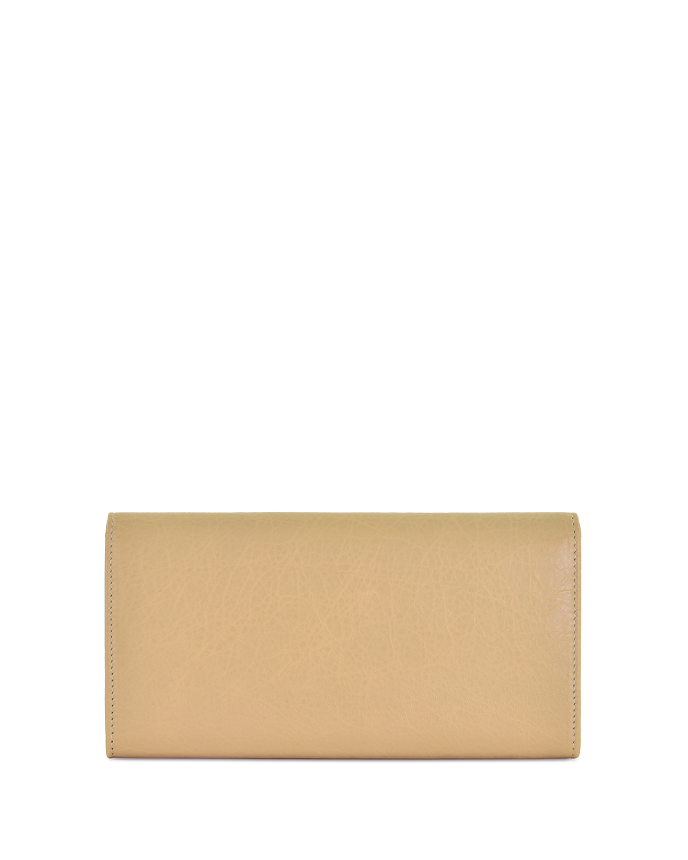 Button Lamb Leather Long Wallet 2