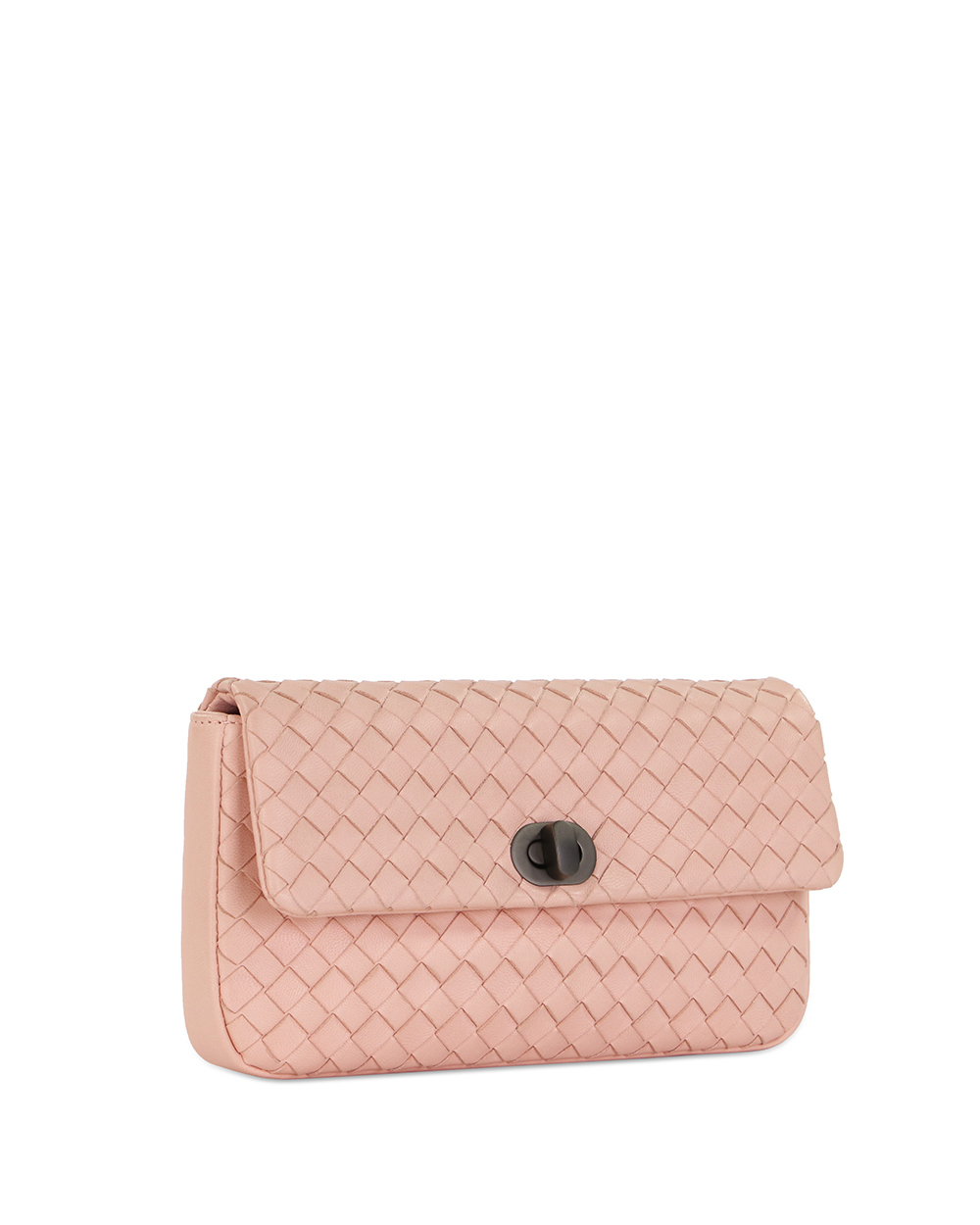 Woven Lamb Leather Clutch 2