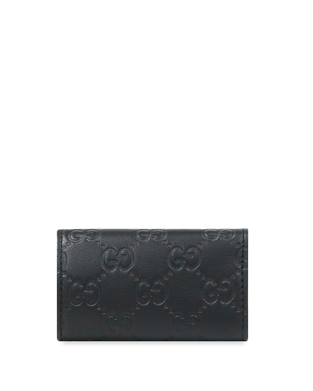 Double G Plate Leather 6 Key Case 2