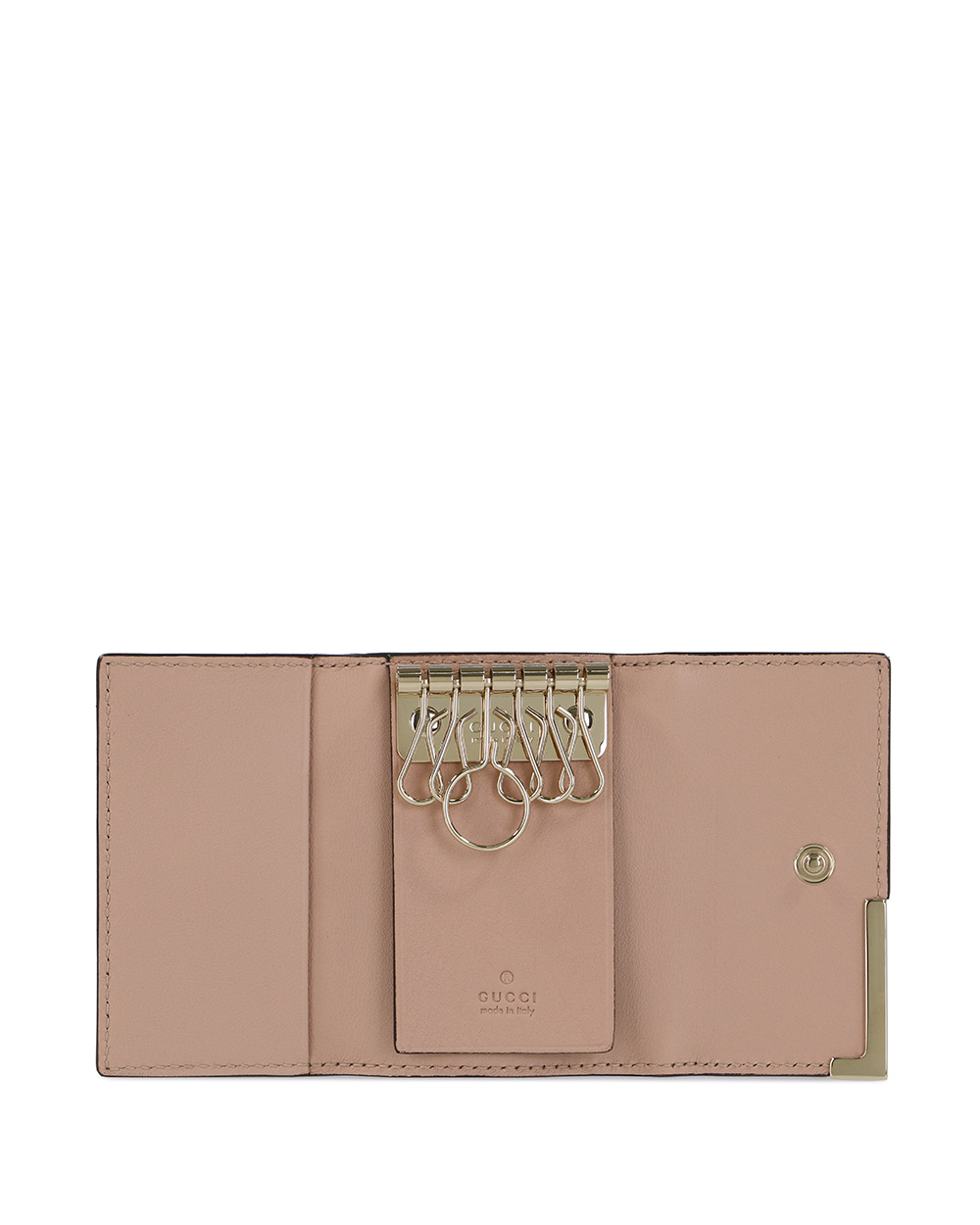Microguccissima 6-hooked Leather Key Case 1