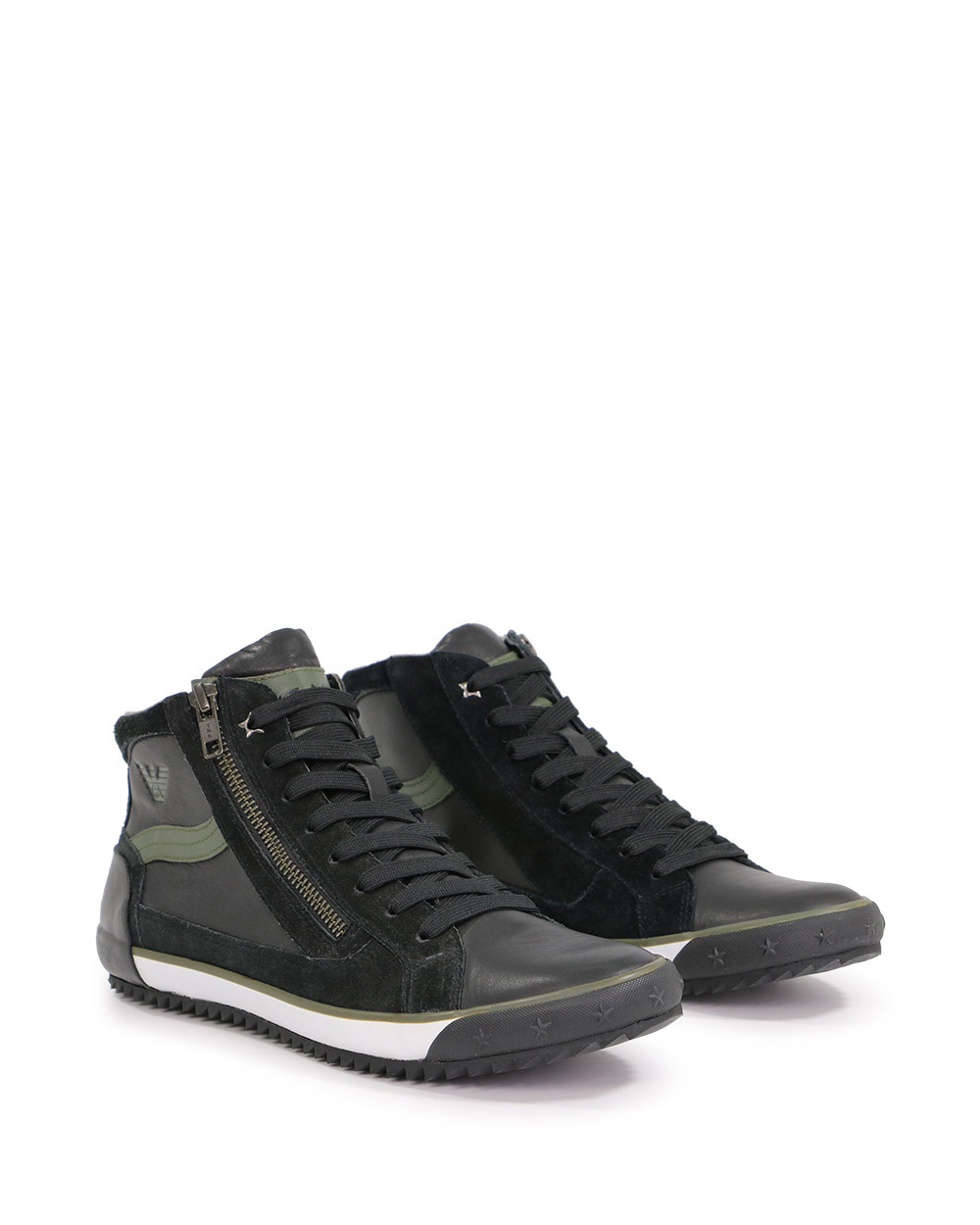 High-Top Leather Sneakers 1