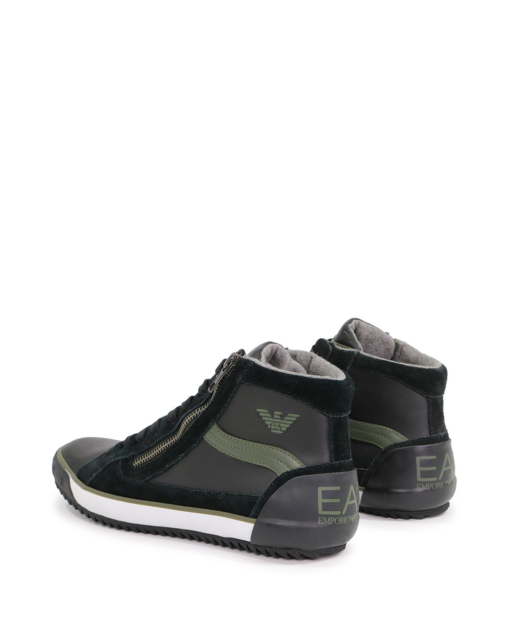 High-Top Leather Sneakers 2