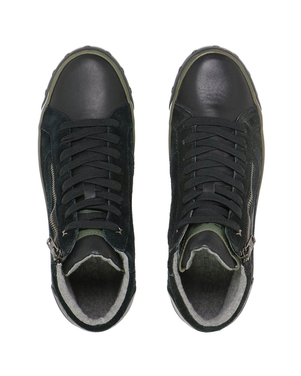 High-Top Leather Sneakers 3