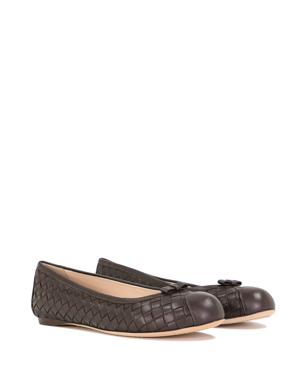 Leather Woven Flats 1