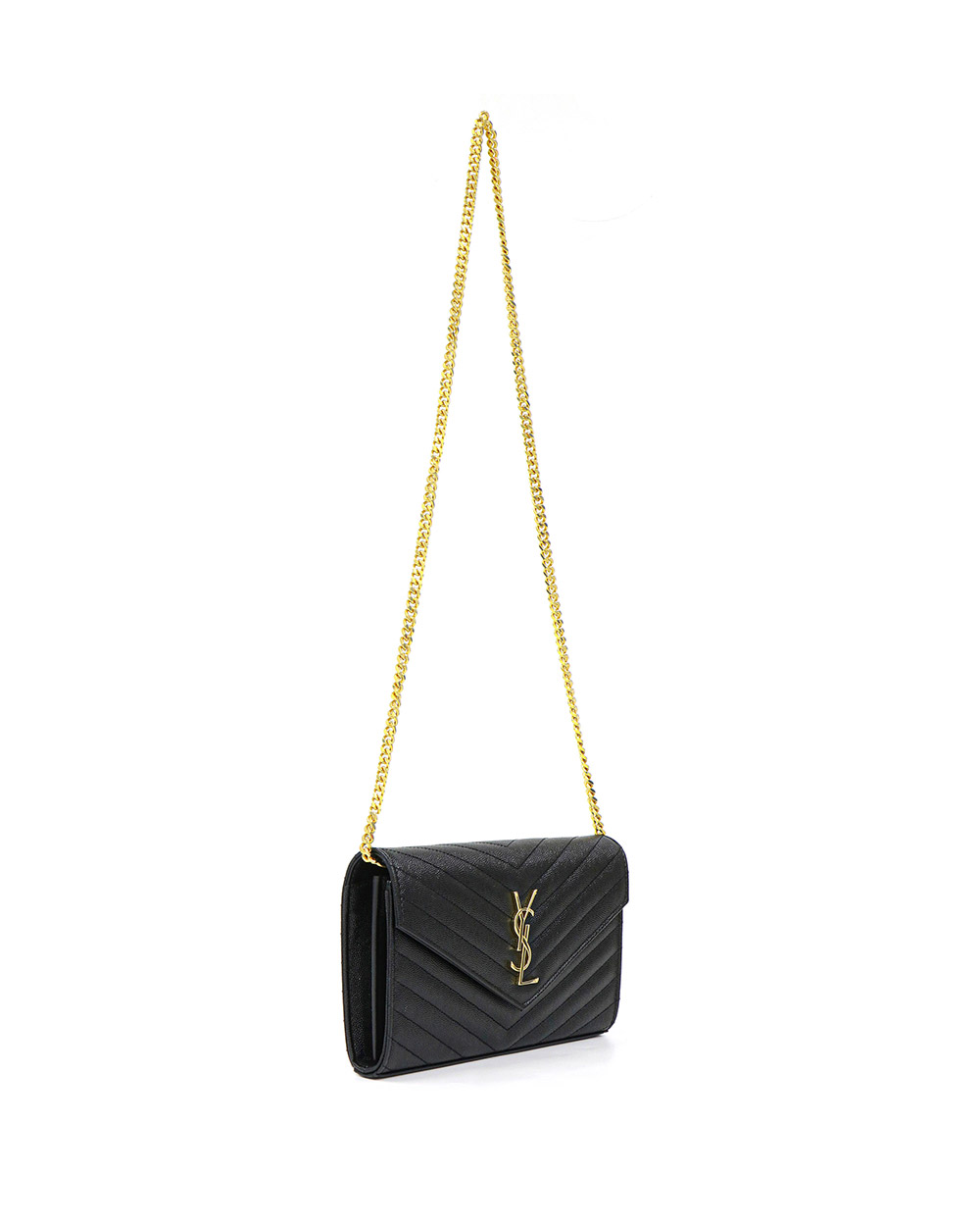 Envelope Quilted Textured-Leather Shoulder Bag 1
