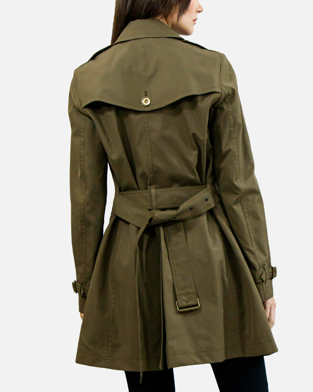Double-breasted Mid-length Trench Coat 2