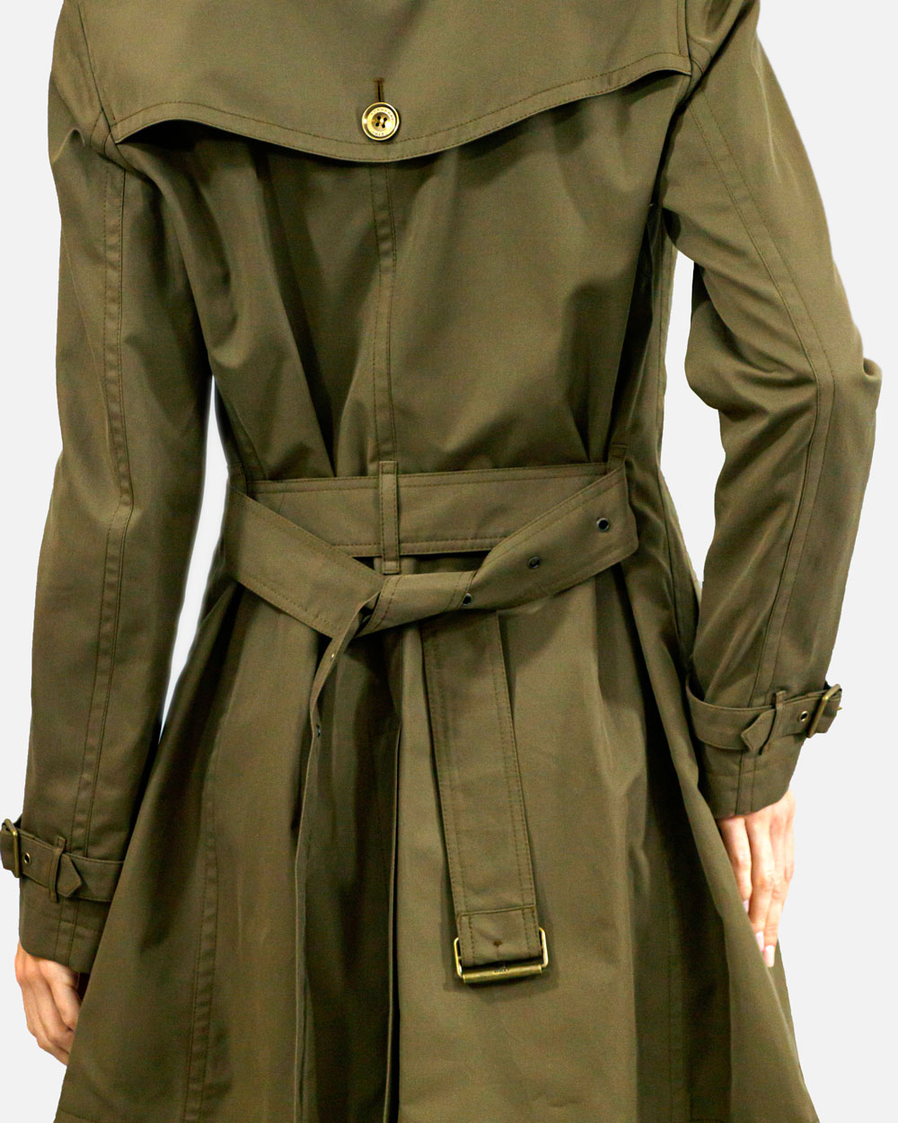 Double-breasted Mid-length Trench Coat 5