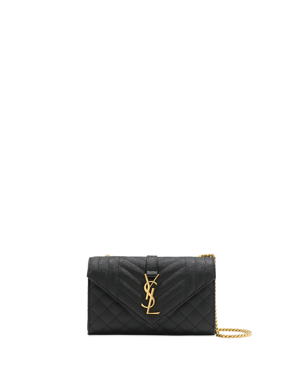 ENVELOPE Small Quilted Textured-Leather Shoulder Bag