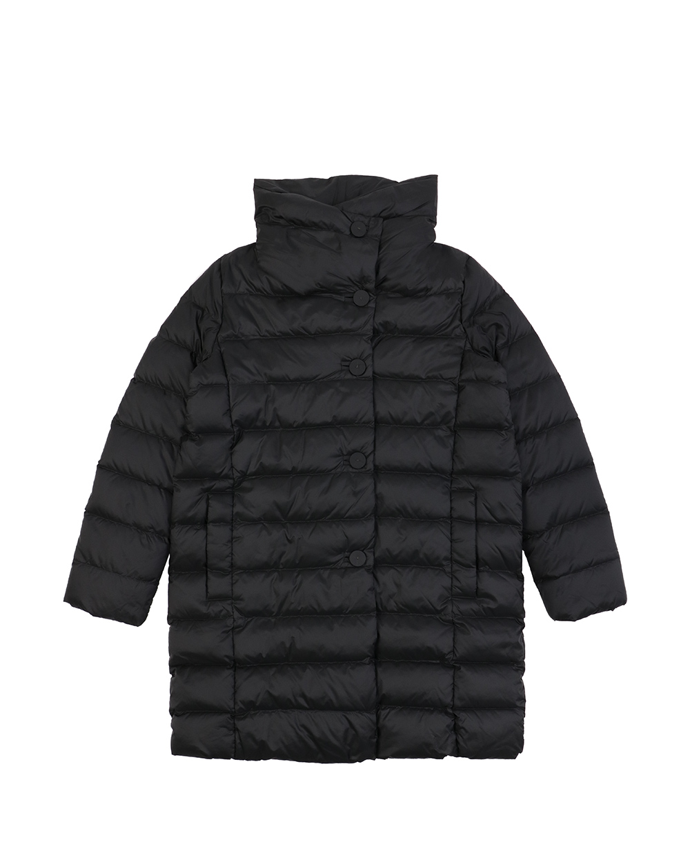 Mid-Length Striped Down Jacket