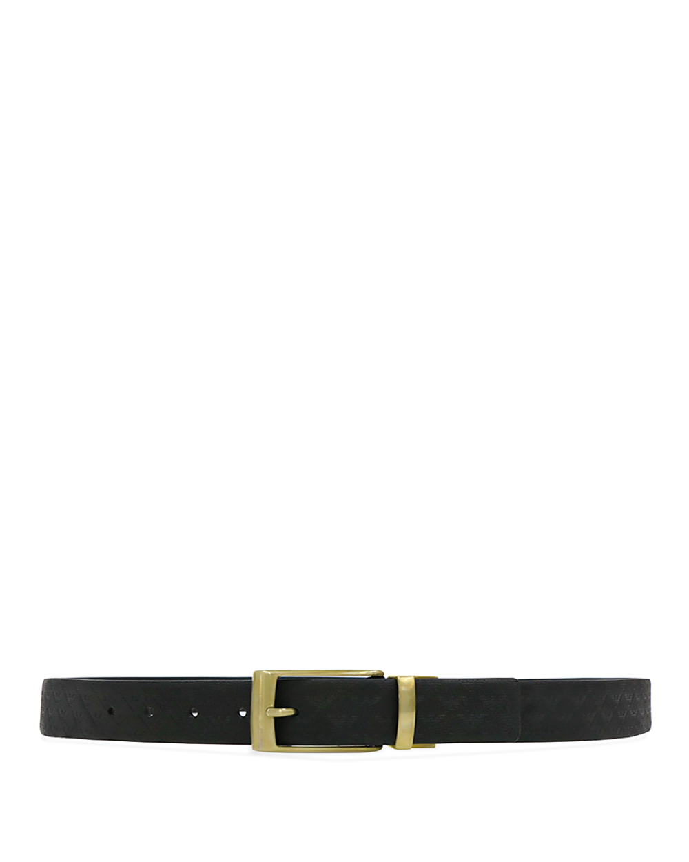 EA LOGO Print Leather Pin Buckle Belt